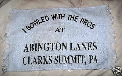 Bowling Towel i Bowled With The Pros Abington Lanes