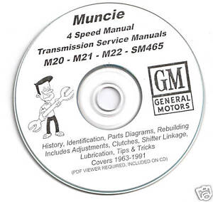 GM Muncie Four 4 Speed M20 M21 M22 SM465 Rebuild Manual
