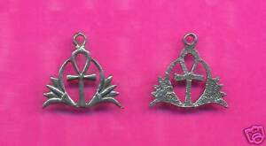 100 wholesale lead free pewter ahnk charms 1222