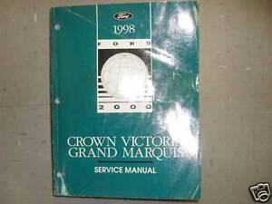 1998 ford crown victoria mercury grand marquis service. Black Bedroom Furniture Sets. Home Design Ideas