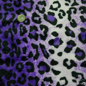 SOFT-MINKY-MINKEE-CHENILLE-POLYESTER-FABRIC-CHEETAH-LEOPARD-FUR-VIOLET-60-WIDE