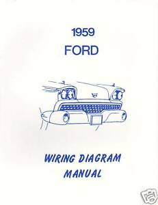 1959 ford wiring diagram manual image is loading 1959 ford wiring diagram manual