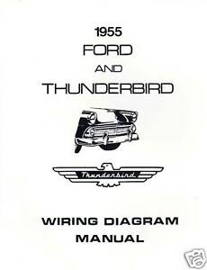 1955 FORD & THUNDERBIRD WIRING DIAGRAM MANUAL | eBay