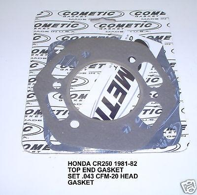 HONDA CR250 250  COMETIC C7011 .043 CFM TOP GASKET SET