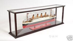 Mesa De Madera Barco Modelo del caso de exhibición para 40 Ocean Liner & cruceros Nuevo