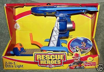 Rescue Heroes 2-in-1 Ulta Light Rescue Vehicle Set 2001