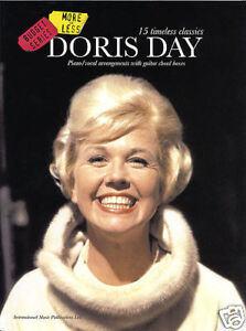 DORIS DAY PIANO VOCAL & GUITAR SHEET MUSIC BOOK NEW