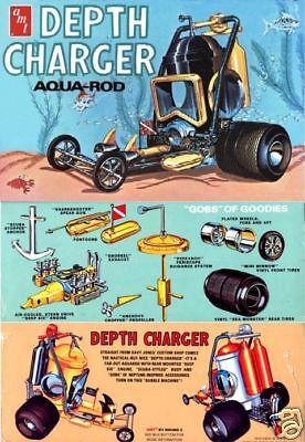 AMT Depth Charger Aqua Rod model kit 1/25