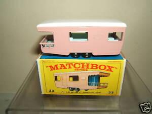 Matchbox lesney modell no.23d trailer karawane mib