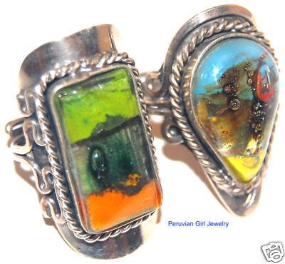 10 Womens Adjustable Rings Alpaca Silver Jewelry Lot
