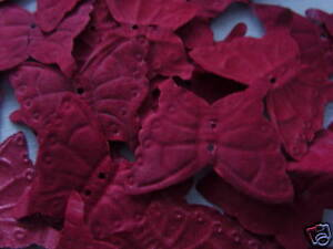 100-BURGUNDY-BUTTERFLY-QUALITY-SILK-ROSE-PETALS-WEDDING-CONFETTI-TABLE-DECOR