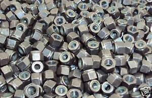 (1000) M6-1.0 Metric Nylock Hex Nut 6mm Nyloc DIN 982