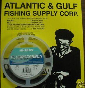 Fluorocarbon leader fishing line hi seas 15 lb 25 yd ebay for Hi seas fishing line