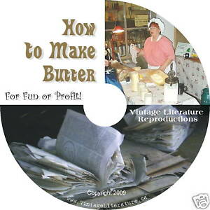 Make-Butter-Cheese-45-Vintage-How-To-Self-Survival-with-Churn-Plans-on-DVD