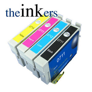 4-COMPATIBLE-INK-CARTRIDGES-FOR-EPSON-DX400-DX4000-B40W