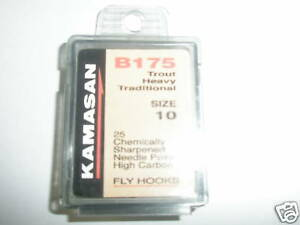 Kamasan-2x-B175-en-Caja-Gancho-de-mosca-SZ14-Pesado-Tradicional