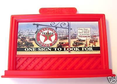 BILLBOARD TEXACO Advertising Magnet Service Station Gas Motor Oil Lefton '95 MIB