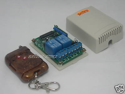 2CH Momentary RF Remote&Receiver for access control