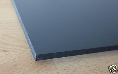 1 Hart PVC Kunststoffplatte dunkelgrau 120x245x12mm