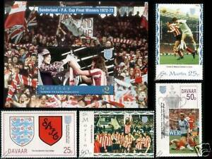 SUNDERLAND-AFC-FA-CUP-Winners-1972-1973-Football-Stamps