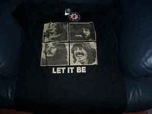 THE-BEATLES-LET-IT-BE-T-SHIRT-BLACK-MEDIUM-BRAND-NEW-WITH-TAGS-LOVELT-PRESENT