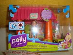 Cabane plage polly pocket de la piscine disco lila ebay for Polly pocket piscine