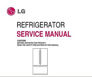lg refrigerator service manual ebay Frigidaire Refrigerator Manual Repair Manuals
