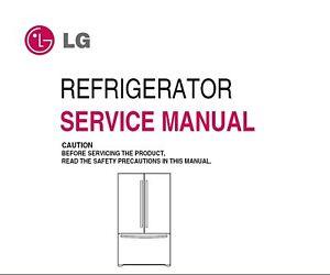 lg refrigerator service manual ebay. Black Bedroom Furniture Sets. Home Design Ideas