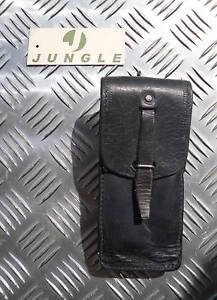 Genuine-Swedish-Army-Black-Leather-Pouch-with-belt-loops-Grade-2