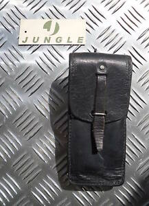 Genuine-Swedish-Army-Black-Leather-Pouch-with-belt-loop