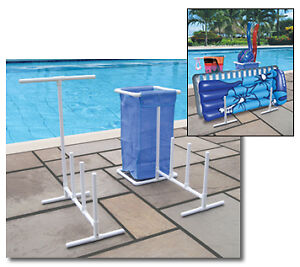 Swimming-Pool-Towel-Holder-and-Float-Caddy-Organizer