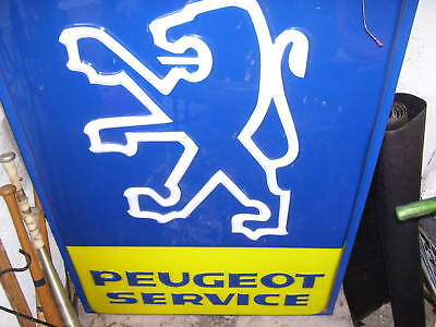 authentic peugeot dealership sign,rally/Lemans racing