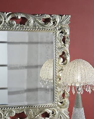 specchio Stile Barocco  vera foglia d'argento intagliata offerta italy
