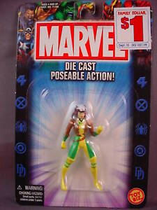 MARVEL DIE CAST METAL ROGUE 3-INCH FIGURE MIP!!