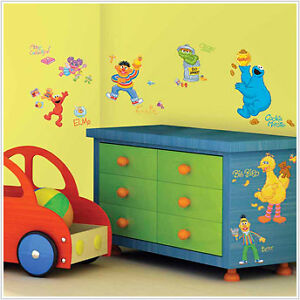 Elmo room decor ebay for Elmo wall mural