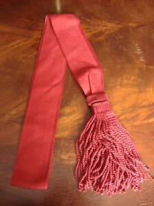 Guards British Army Warrant Officers Maroon Sash