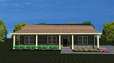 House Plans For 1360 Sq  Ft  3 Bedroom House