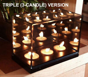 Magic-Illusion-TRIPLE-INFINITY-CANDLE-MIRROR-BOX-LIGHT-3-candles-look-like-100s