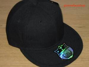 BRAND-NEW-PLAIN-FITTED-HAT-CAP-ETHOS-FLAT-PEAK-ALL-SIZES-FIT-BASEBALL-URBAN