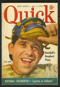 1952 YOGI BERRA ON COVER QUICK WEEKLY BOOKLET !!