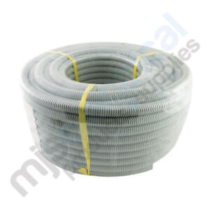 Corrugated Conduit 20mm x 25mtr Roll Grey Flexible Conduit Electrical NEW