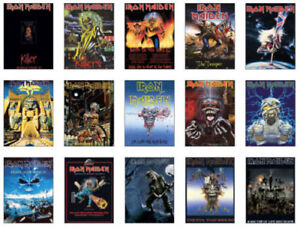 Iron Maiden Concert Posters Trading Card Set