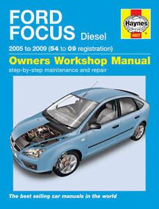 Haynes Manual 4807 Ford Focus 1.6TDCi 1.8TDCi 2.0TDCi Diesel 2005 - 2009 NEW