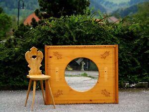 Wandspiegel gro holz spiegel geschnitztes bauernm bel ebay for Wandspiegel gross