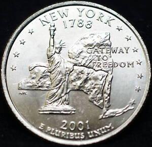 2001-P-New-York-State-BU-Washington-Quarter-US-Coin