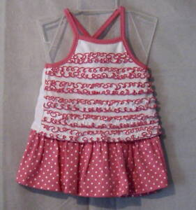 NWT-Infant-Ruffled-Criss-Cross-Strap-Top-W-Skorts