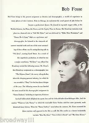 bob fosse essay Bob fosse essays robert louis fosse's stage name was bob fosse he was an extremely talented choreographer he was born into a.