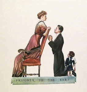 James-M-Flagg-c1910-Lithograph-Prisoner-to-the-Bar