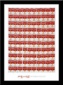 100-SOUP-CANS-Canned-Soup-food-pop-art-FRAMED-PRINT-Andy-Warhol-30x40