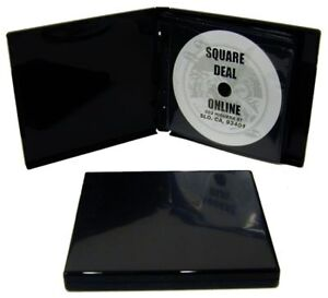 1-CDBR24MM12BK-Black-12-Disc-Capacity-CD-DVD-Album-Book-Storage-Wallet-24mm